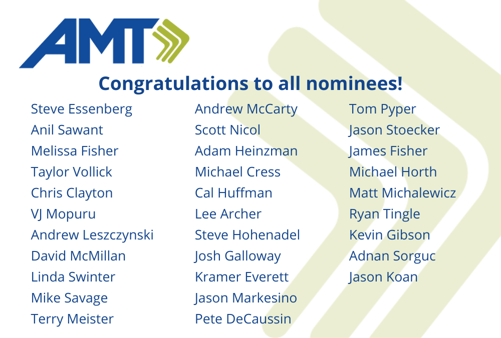 AMT 2020 RISE nominees(1)