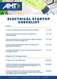 AMT Electrical Startup Checklist