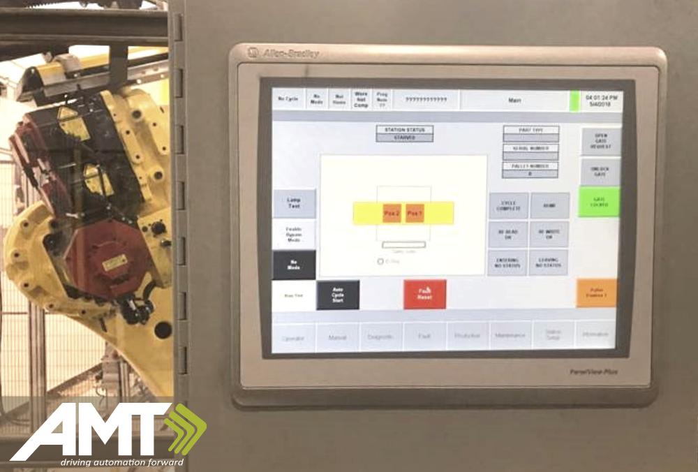 AMT PLC controlled robots