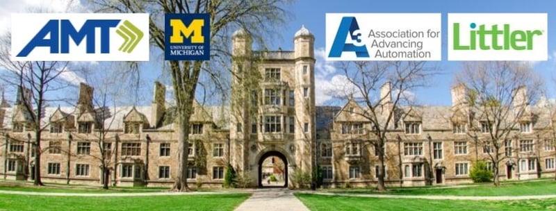 AMT University of Michigan A3 Littler logos on campus image