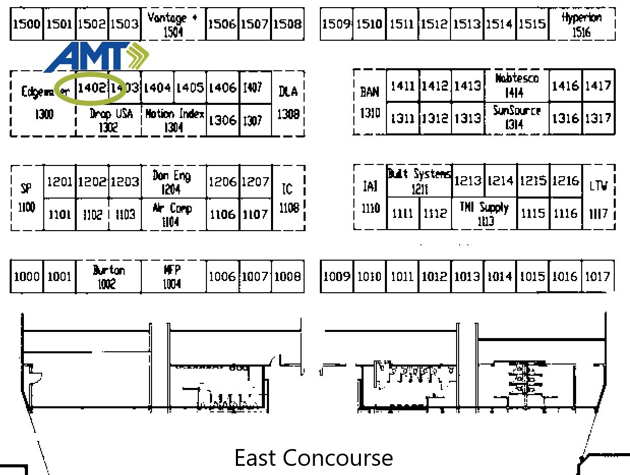 AMT Advanced Manufacturing Expo floor plan 2019 booth 1402